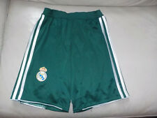Short REAL MADRID, 2012/13, vert, Adidas + chaussettes. Enfant. T. 9/10 ans