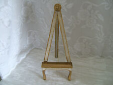 Vintage Gold Wood Table Top Easel Art/Picture Stand