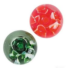 Lot of 12 Pieces: Premium Glass Swirl Beads: Red & Green Mix (Christmas/Holiday)