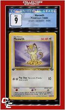 Jungle 1st Edition Meowth 56/64 CGC 9 - PSA BGS