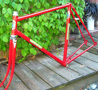 Vintage steel Italian road frame by Sosso of Torino 56 cm repainted late 60s/70s