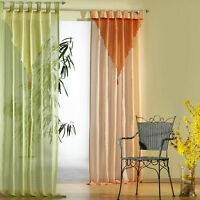 Schlaufenschal Vorhang Farbverlauf mit Quaste in terra o. grün Gardine Typ308
