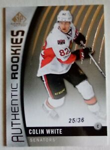 17-18 SP Game Used True Rookie Colin White 25/36.