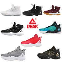 PEAK Men's Basketball Shoes Boots High Sports Sneakers EVA Cushion Athletic Run
