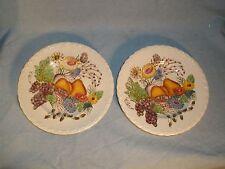 2 Vernon Kilns Fruitdale Salad Dessert Fruit Plates Vintage 1940s California EUC