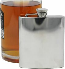 8 oz Shiny Silver Finish Alcohol Liquor Flask Made of 304 (18/8) Stainless Steel