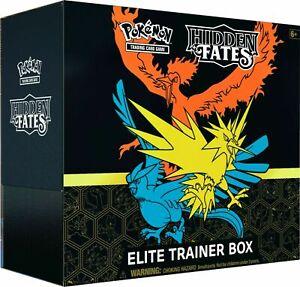 Factory sealed -Pokemon HIDDEN FATES  Elite Trainer Box ETB TCG-**IN HAND**