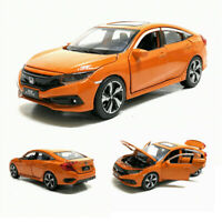 1:32 Honda Civic Metall Die Cast Modellauto Spielzeug Model Kinder Orange
