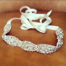 Bridal Sash Belt Rhinestone Dress Sash Prom Sash Wedding Sash Belt Ivory Sash