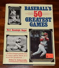 BASEBALL'S 50 GREATEST GAMES BERT RANDOLPH SUGAR 1986 LIKE NEW