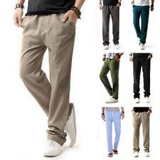 Para Hombre Pantalones De Cintura Ropa de Verano Casual suelta Pantalones de playa tamaño grande M-4XL