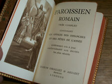 1956 paroissien ROMAIN missel cuir OFFICES prieres MAISON DROGUET ARDANT LIMOGES