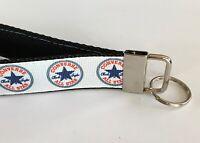 Key Fob Chain Holder Wrist Lanyard Wristlet Converse All Star Chucks