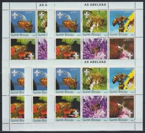 U465. 5x Guinea-Bissau - MNH - Insects - Honeybees - Scouting - 2003
