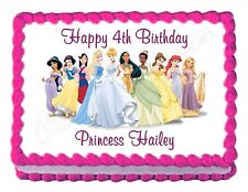 DISNEY PRINCESS party decoration edible birthday cake image cake topper sheet