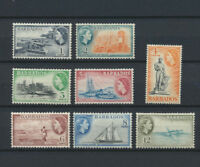 Queen Elizabeth 1953 Mint NH Pictorial Set of 8 Different Barbados Scenes Beauty
