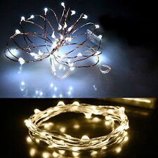 LEDs Copper Wire String Fairy Lights Electric Componet 1x 2M 20 LEDs Copper Wire