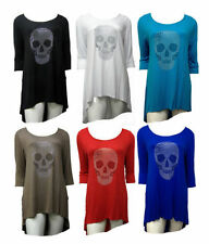 Unbranded Skull Scoop Neck Tops & Shirts for Women