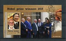 Sierra Leone 2015 MNH Nobel Prize Winners 2015 1v S/S Physics Peace Stamps