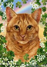 Clover House Flag - Orange Tabby Cat 31955
