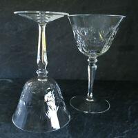 Kristallglas Weinglas Kelch antik Art Déco Facetten Ananas Schliff  30'er Jahre