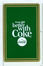 "Single Vintage Playing Card Coca Cola ""things go better with Coke"" 1960's NEW!"