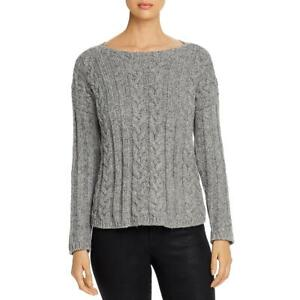 Eileen Fisher Womens Alpaca Blend Cable Knit Pullover Sweater Top BHFO 1997