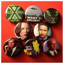 "X FILES 1"" buttons badges MULDER SCULLY DUCHOVNY ALIENS"