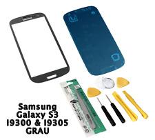 Samsung Galaxy S3 i9300 / i9305 Glas Display Scheibe Grau Grey