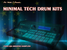 Minimal Tech Drum Kits - Over 280 Samples  - .wav Samples Download House Electro