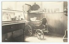 Deerfield Memorial Hall RPPC MA Mass Baby Carriage Real Photo Vintage Postcard