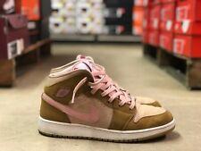 08f1a79097c2ad Nike Air Jordan 1 Retro Mid Kids Basketball Shoe Tan Pink 724072 730 Size  8.5