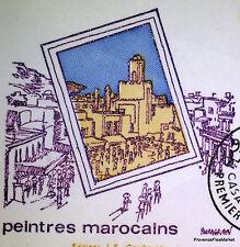 MA980 PEINTRES MAROCAINS   MAROC FDC  ENVELOPPE PREMIER JOUR