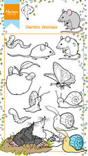 Marianne Design Clear Rubber Stamps HETTY'S GARDEN ANIMALS 10pc HT1614