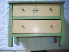 dresser chest doll wood child's old vintage