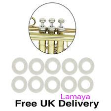 More details for 10 x trumpet valve stem felt washer pads trombone cornet replacement accessories