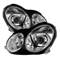 Mercedes Benz 01-07 W203 4Dr Sedan C-Class Projector Headlights C230 C280 C350