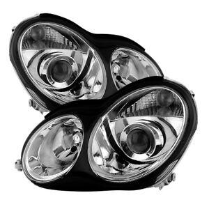 Mercedes Benz 01-07 W203 4Dr Sedan C-Class Projector Headlights C230 C280 C350