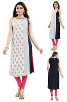 Women Indian Kurti Tunic Printed Cotton Ethnic Long Kurta Shirt Dress MM232