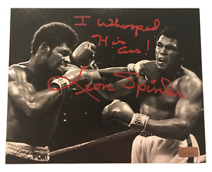 "Leon Spinks Signed 8x10 Inscribed ""Whooped Ali"" COA Michael 8x Muhammad"