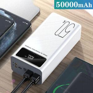 Power Bank 50000mAh Large Capacity LED Light Portable Charger External Battery