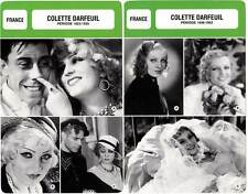 FICHE CINEMA x2 : COLETTE DARFEUIL DE 1923 A 1952 -  France (Biographie/Filmo)