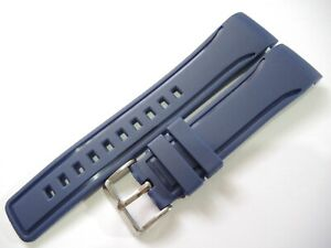 NEW 22MM CURVED DARK BLUE RUBBER STRAP FITS SEIKO SKX399, SKX007, 7002 DIVER'S