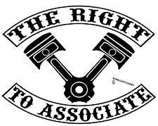 THE RIGHT TO ASSOCIATE PISTON STICKER BIKER OMC MOTOR BIKE MOTORCYCLE STICKER