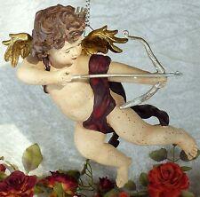 Engel fliegend Figur Putte Liebesengel Engelfigur Antik Barock Skulptur Cupido