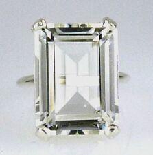 Anelli di lusso trasparente di pietra principale topazio