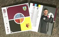 Burnley v Watford RESTART Programme 25/6/2020! FREE UK POSTAGE! READY TO POST!!!