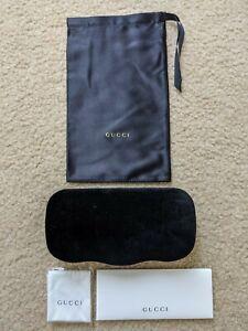 Gucci Authentic Sunglasses Eyeglasses Velvet Case w/ Dust Bag & Cloth BRAND NEW