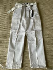 NWT Men's Regal Wear Solid White Cargo Pocket Pants w/ Belt ALL SIZES/LENGTHS