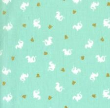 Fat Quarter Baby Dragon Turquoise 100% Cotton Quilting Fabric Michael Miller